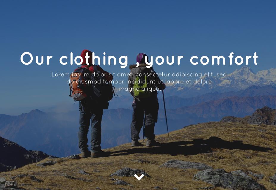 Trekking Store PSD Template