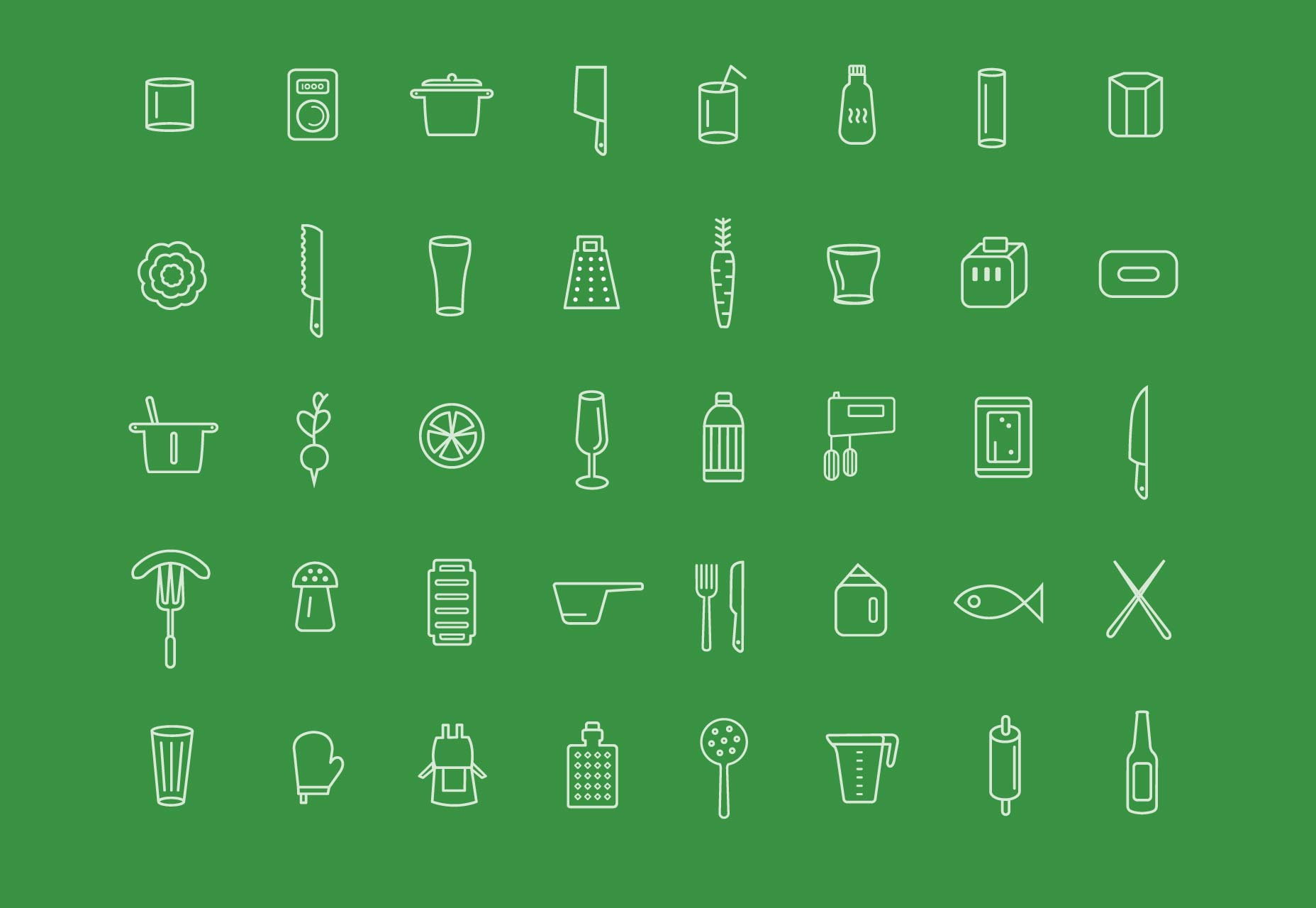 100 free kitchen icons