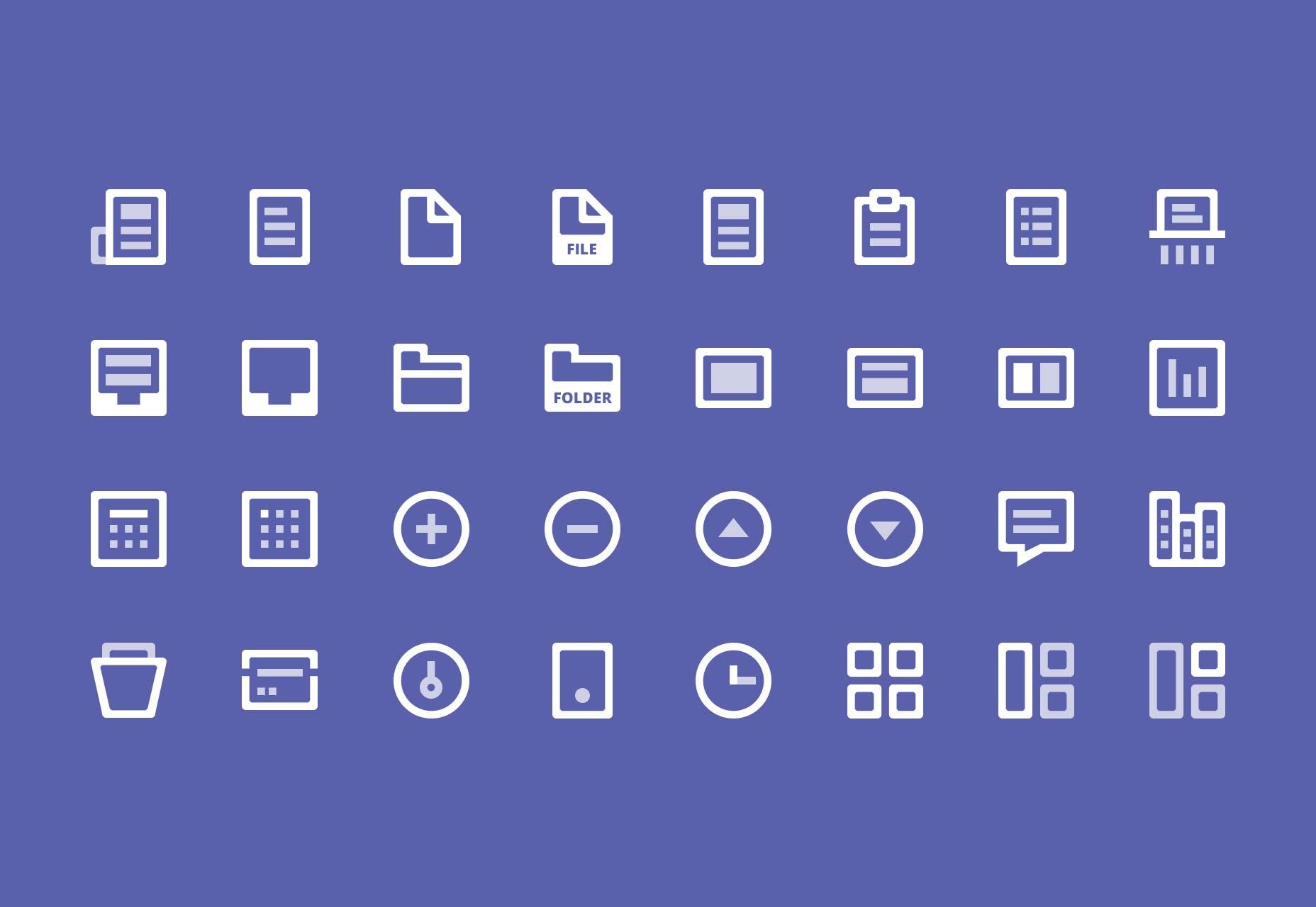 32 icons