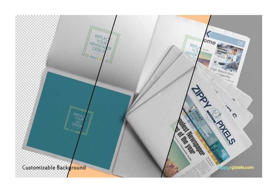 Beautiful Newspaper Ad PSD Mockup