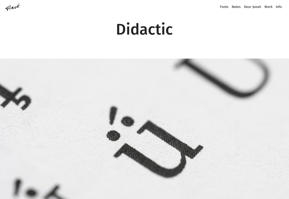 Didactic: OTF Readable Elegant Typeface