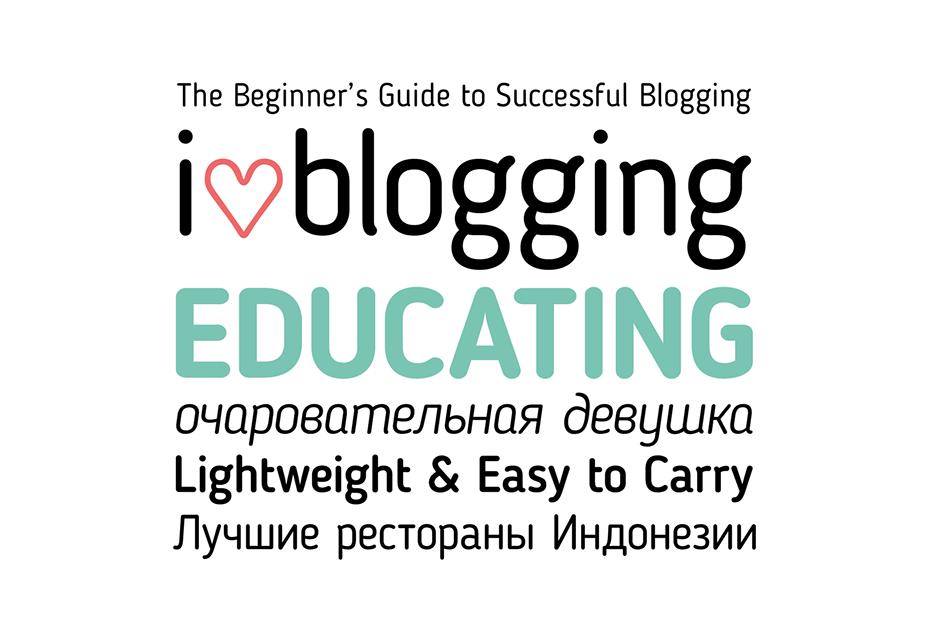 Free Blogger Sans Serif Typeface