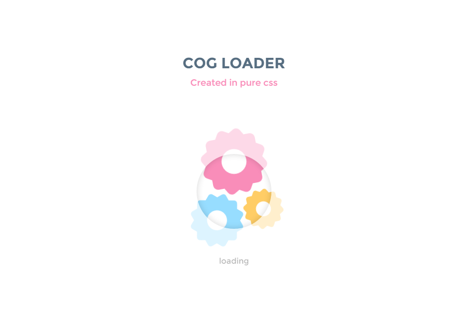 Grinding Gears CSS Loading Animation