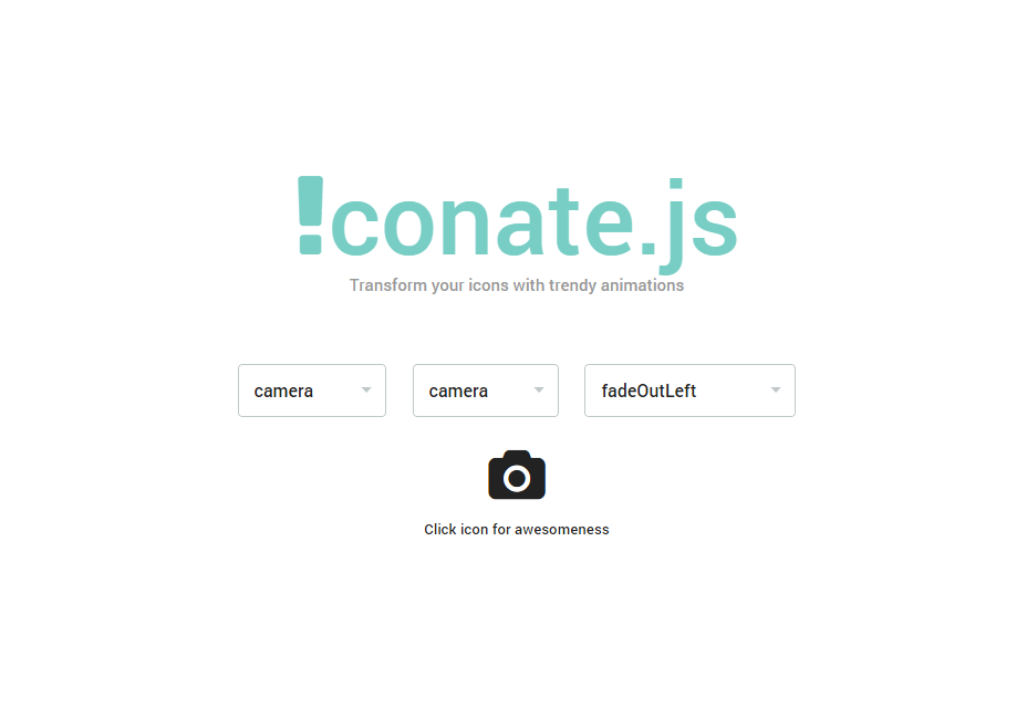 Iconate.js: JavaScript and CSS Icons Transitions