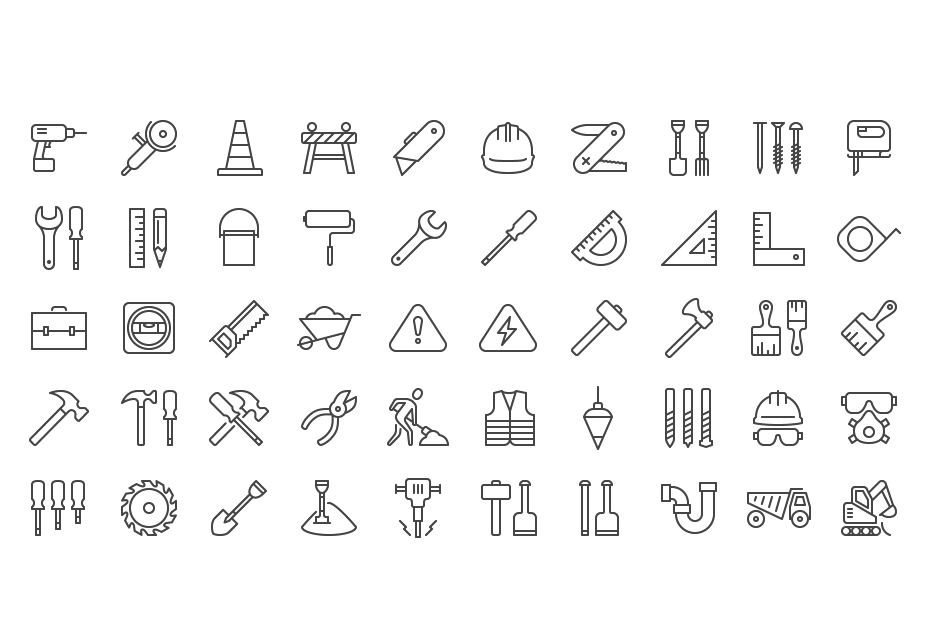 iOS 8 Construction Icons