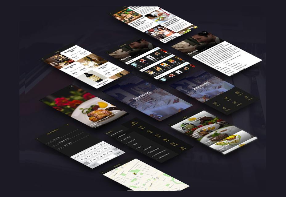 Restaurant App Template PSD