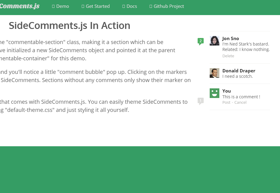SideComments.js: Medium-like Comments Interface Component