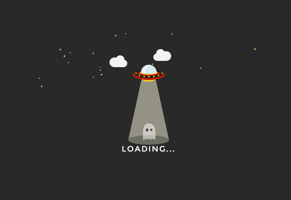 Space Invader SCSS Loading Page