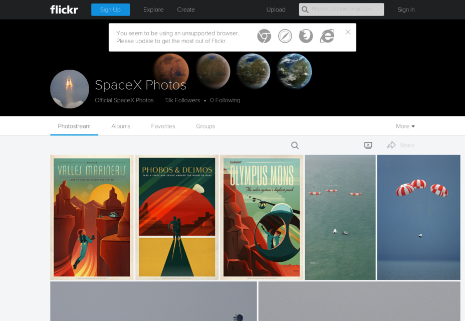 SpaceX Curated CC0 Space Photos