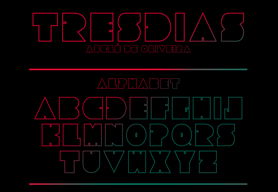 Tresdias: Chubby Outline Free Font