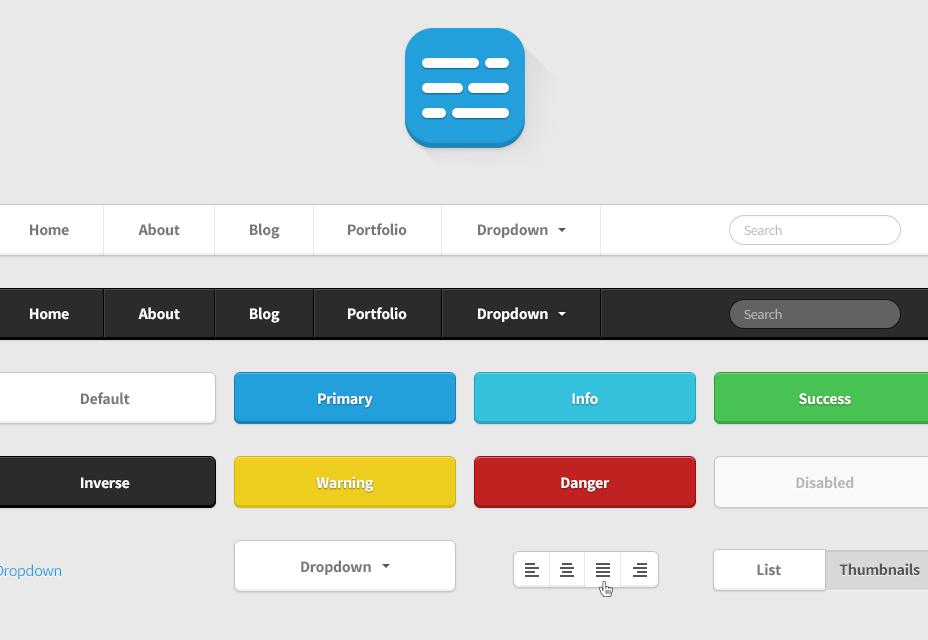 Twitter Bootstrap HTML UI Kit