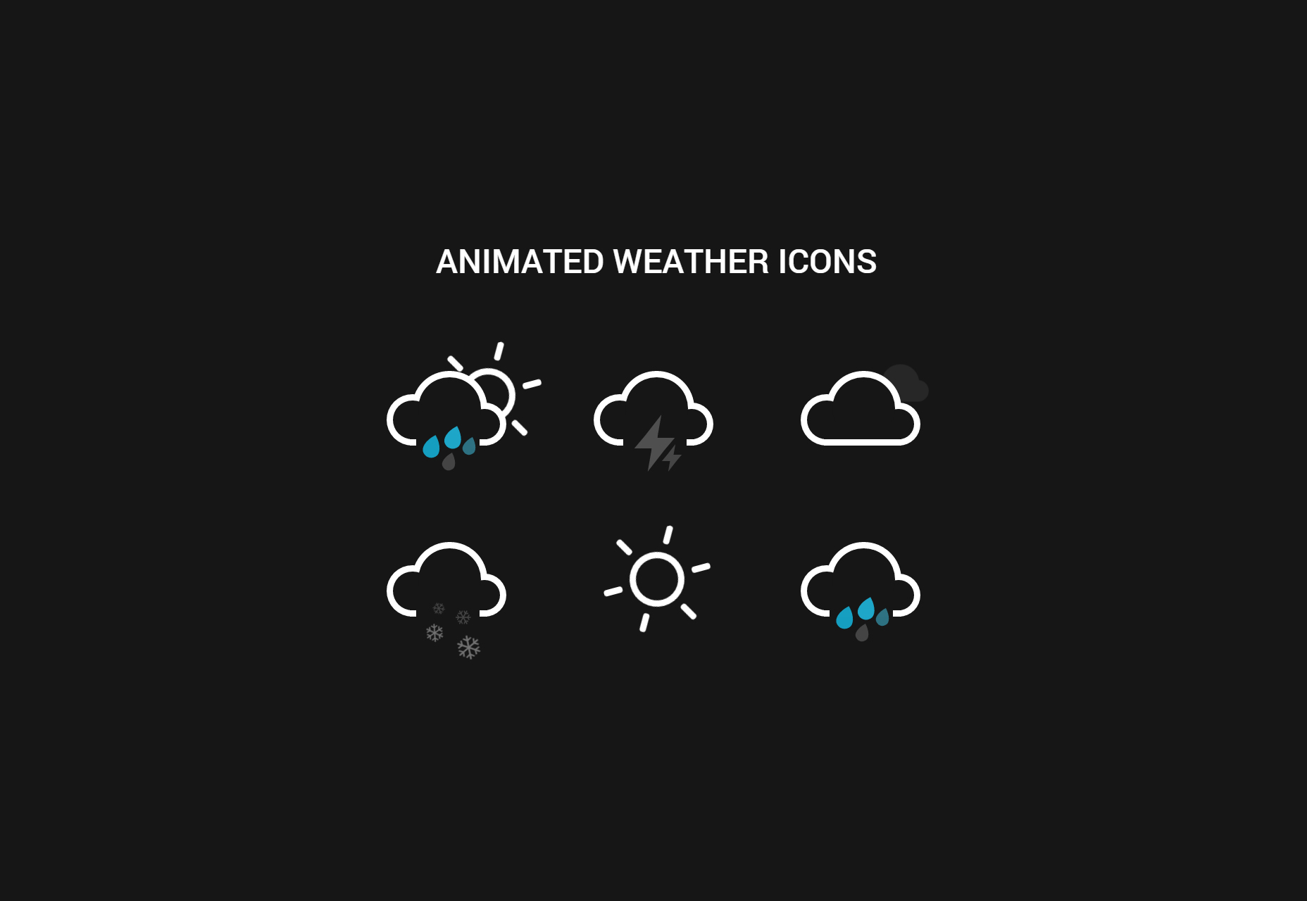 Animated Weather Icons CSS Snippet