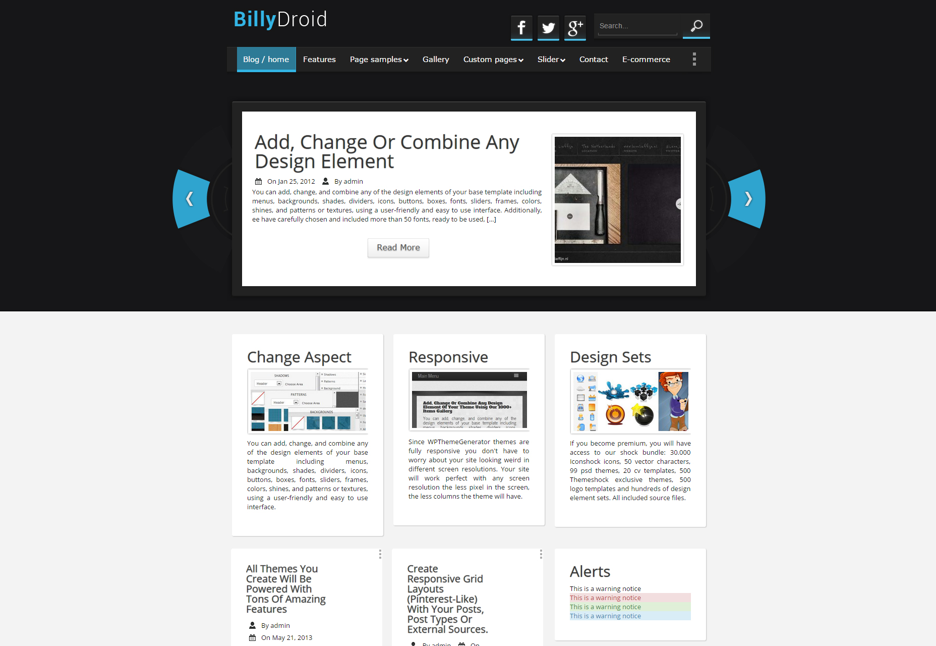 BillyDroid: Mobile and Technology Blogging WordPress Theme