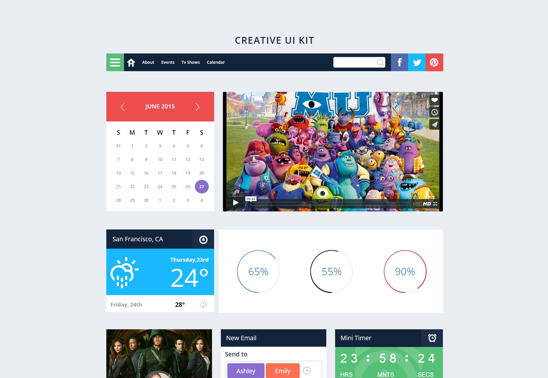 Creative UI Kit: a Flat Bootstrap Responsive Web Template