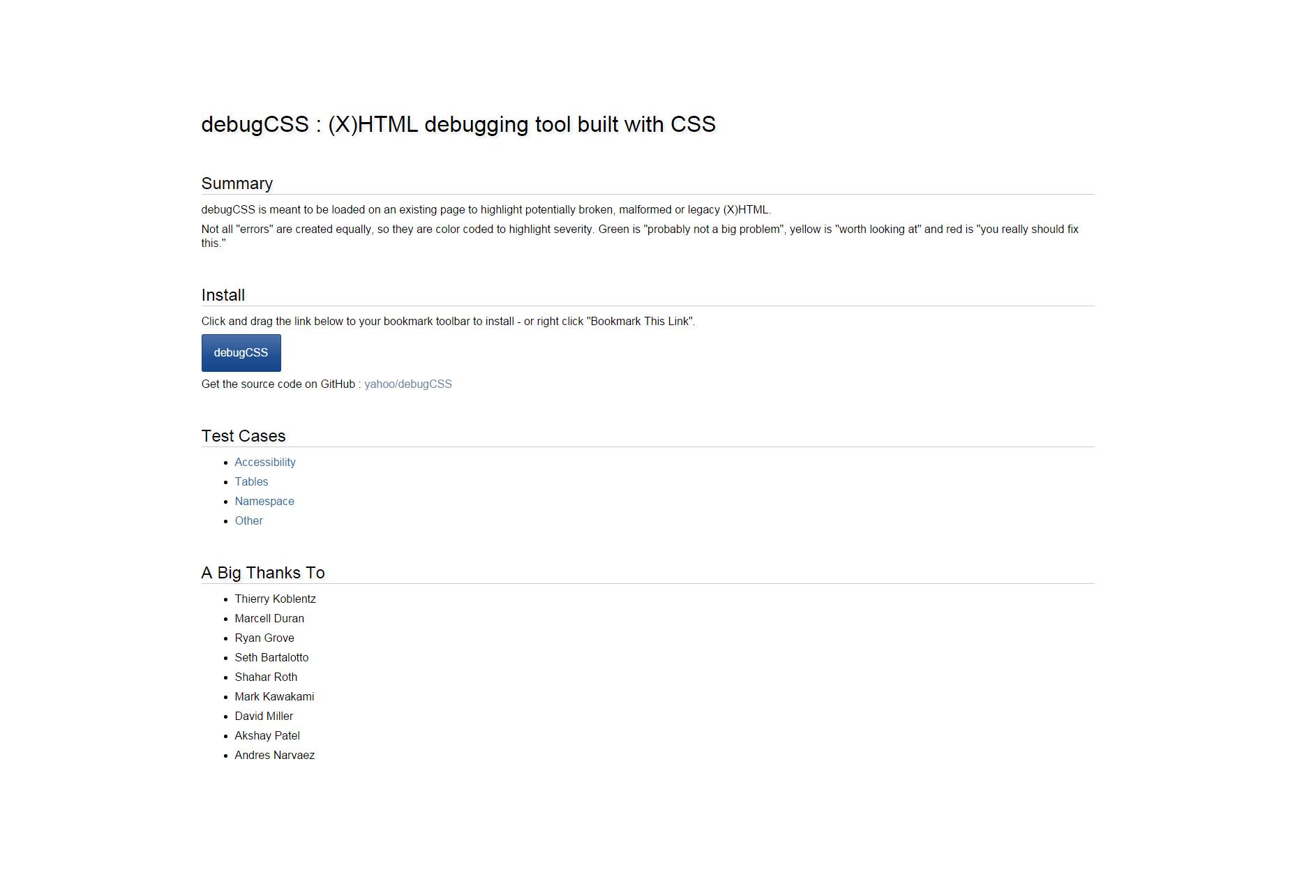 DebugCSS: HTML CSS Debugging Tool Built