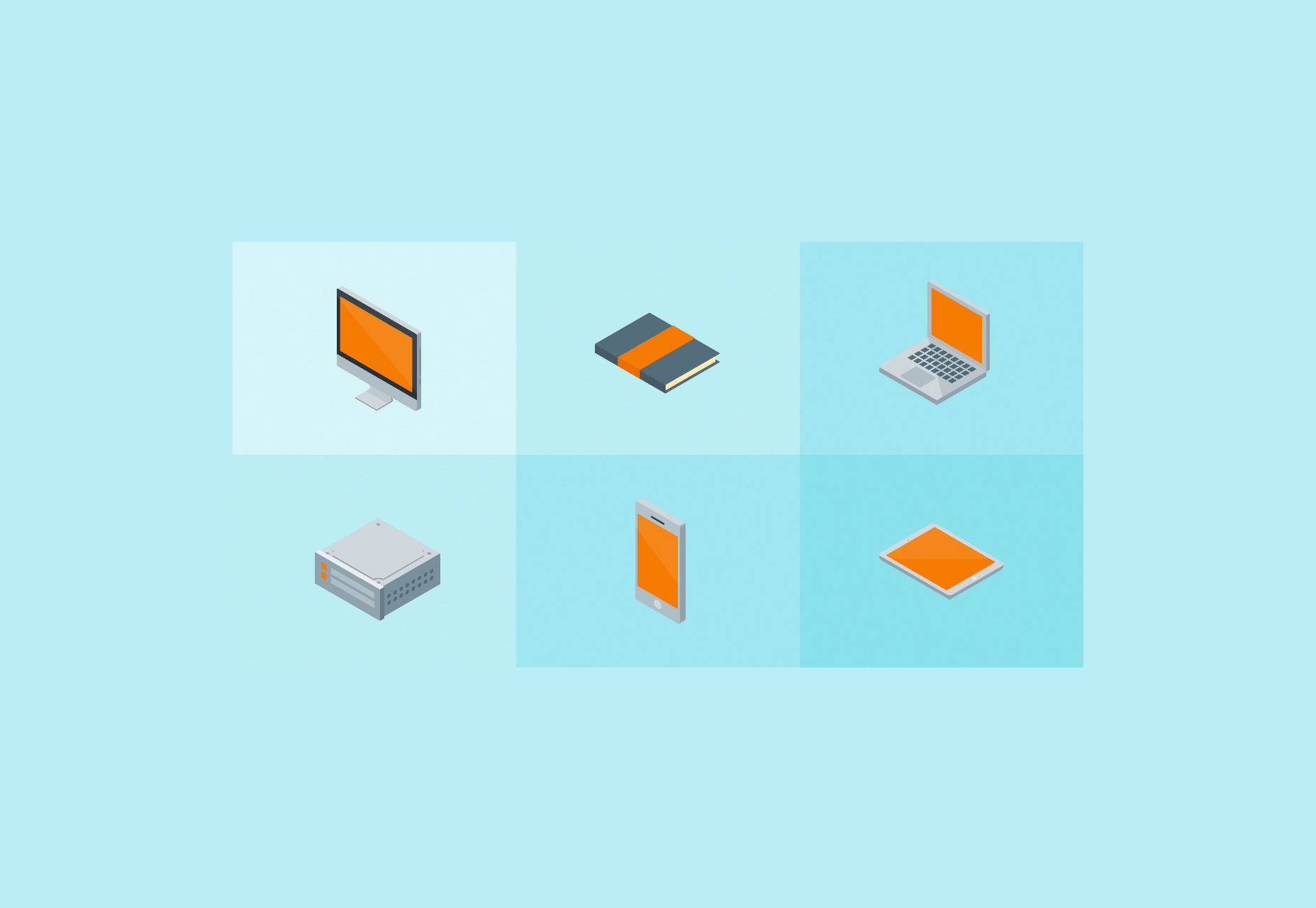 Free Set of Vector Isometric Material Icons