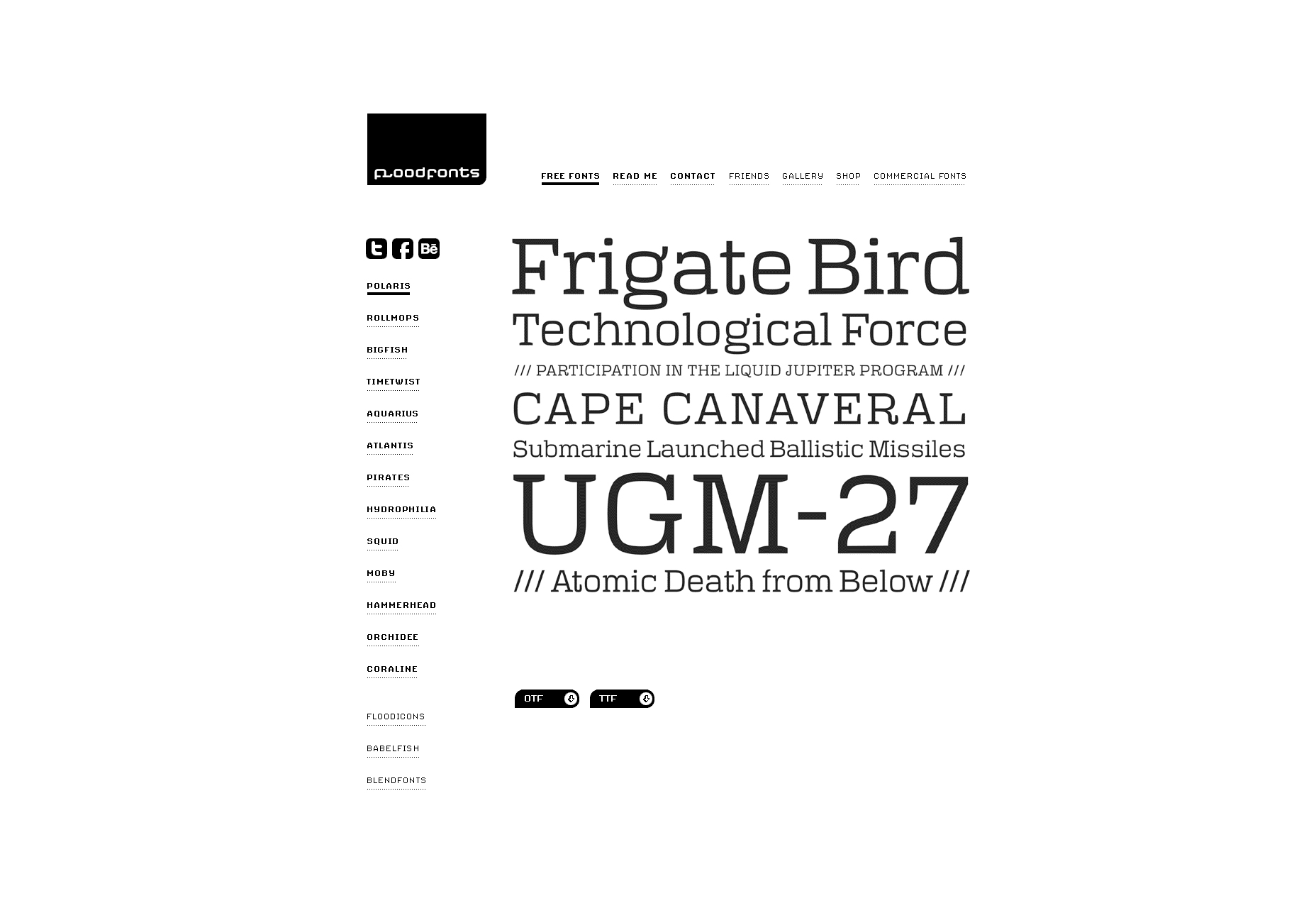 16 Monoline Typefaces in OTF and TTF Formats