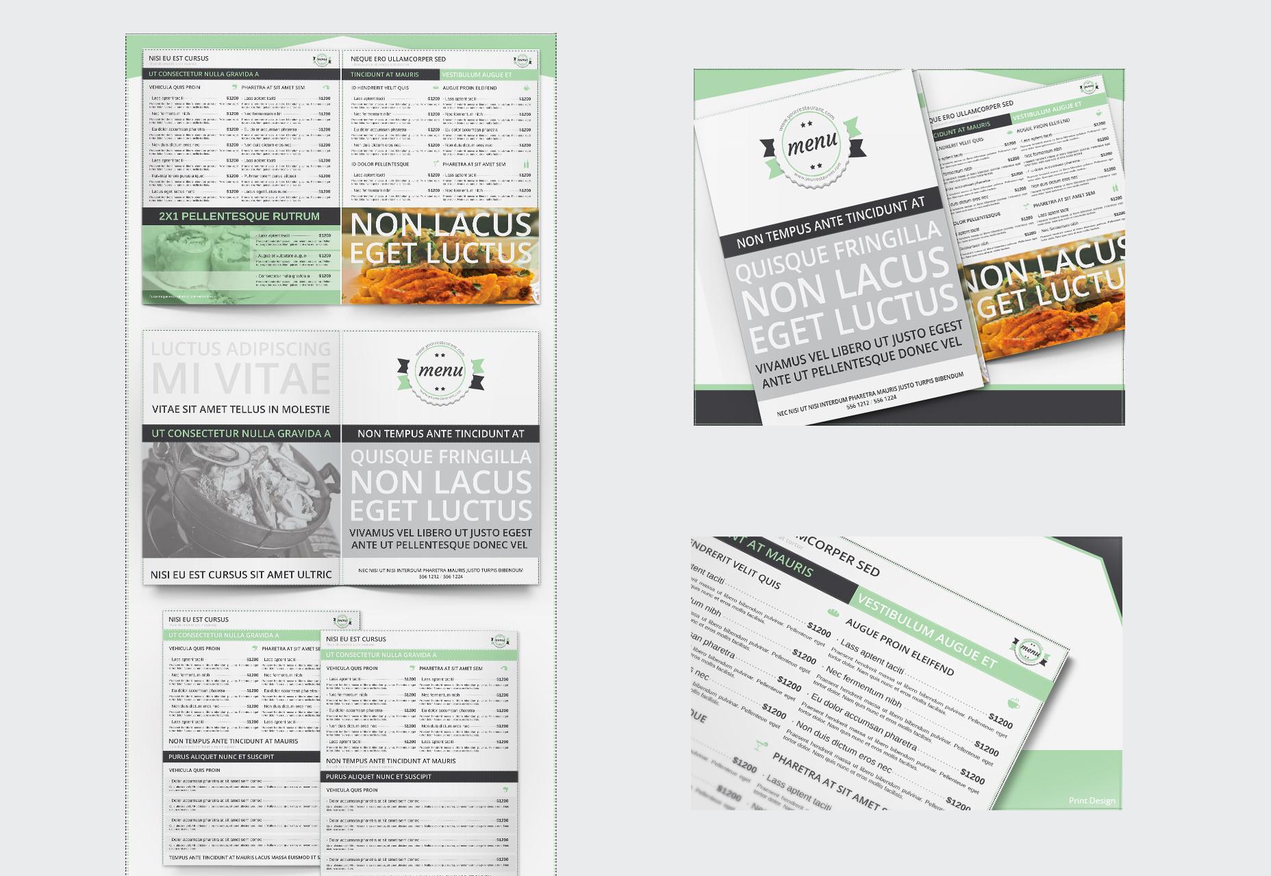 78 High-quality Editable Menus for Restaurants