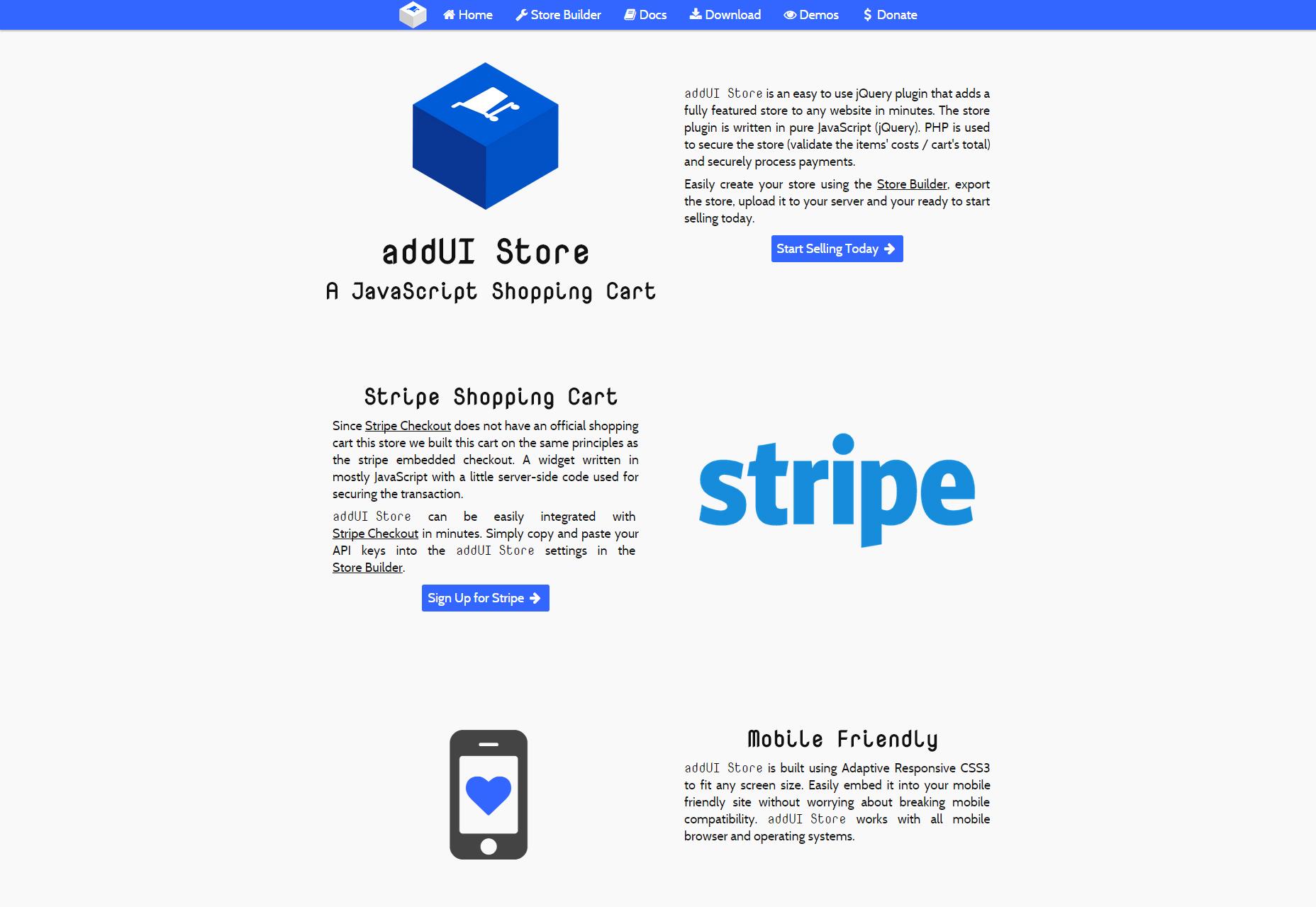AddUI Store: A JavaScript Shopping Cart