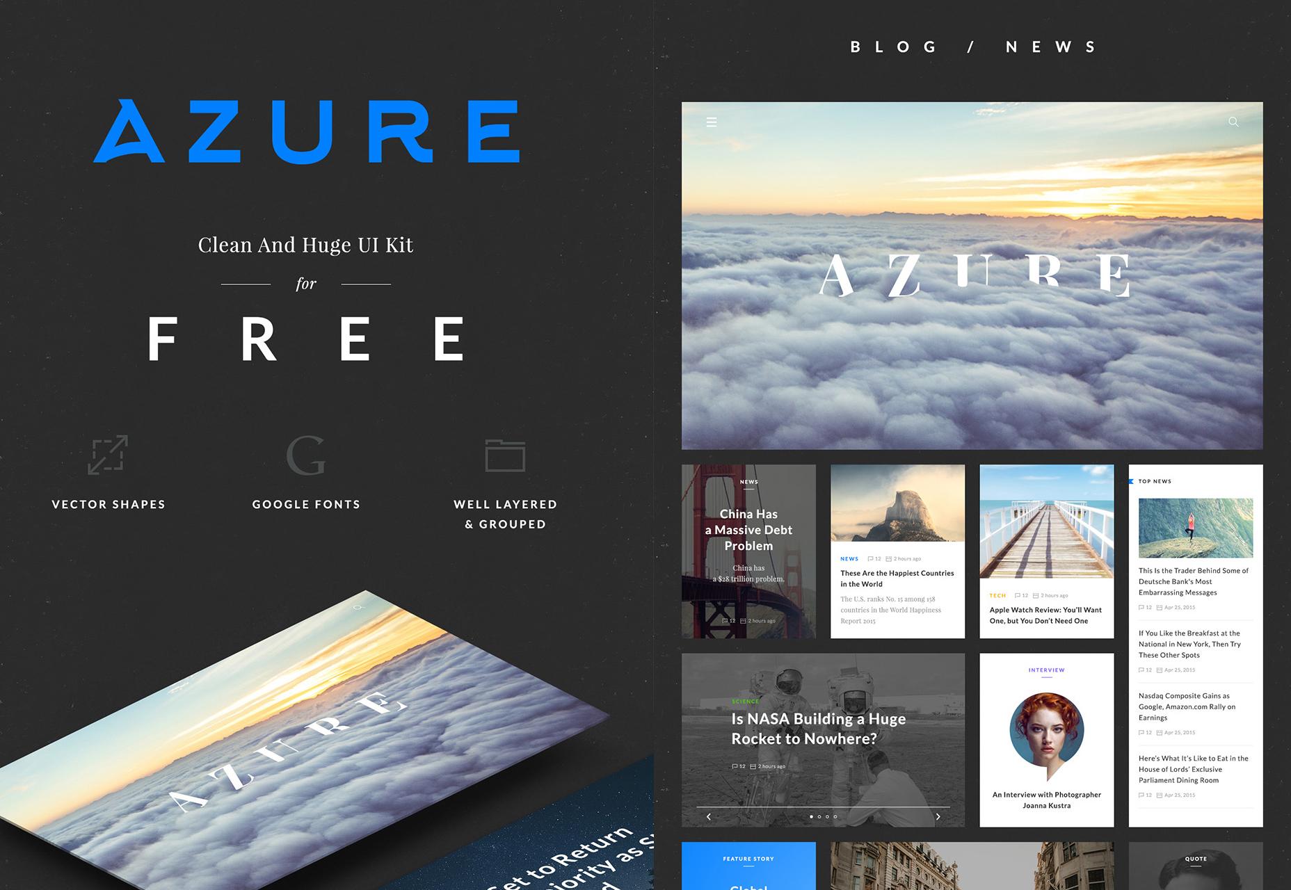 Azure: Free Clean and Stylish UI Kit