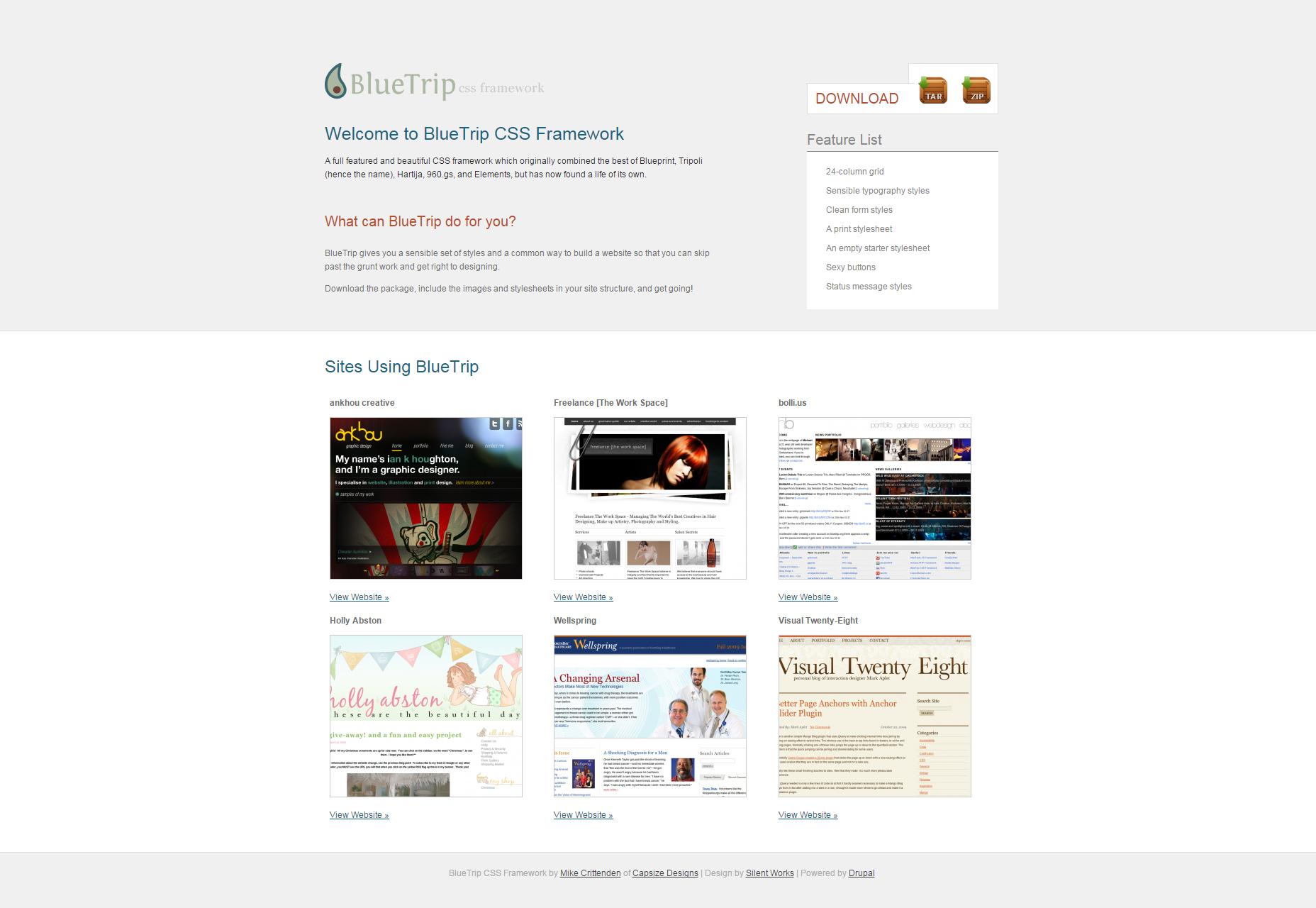BlueTrip: A Beautiful and Full-featured CSS Framework
