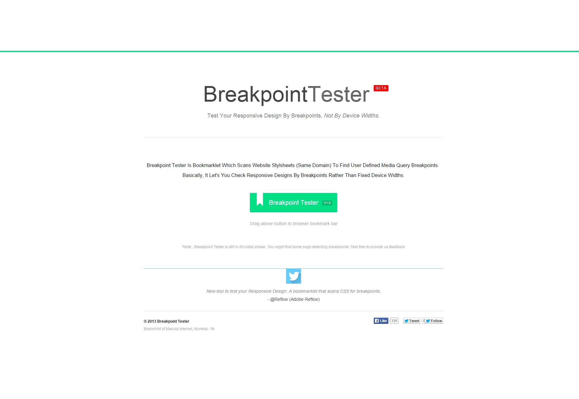 BreakpointTester: Breakpoints Testing Bookmarklet for Responsive Designs