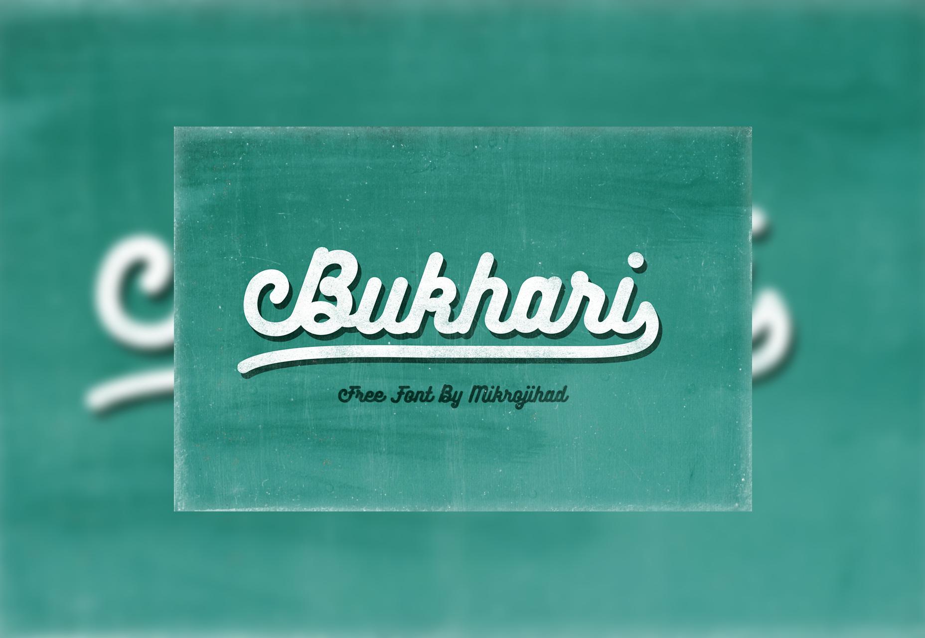 Bukhari: Free Bold Script Font