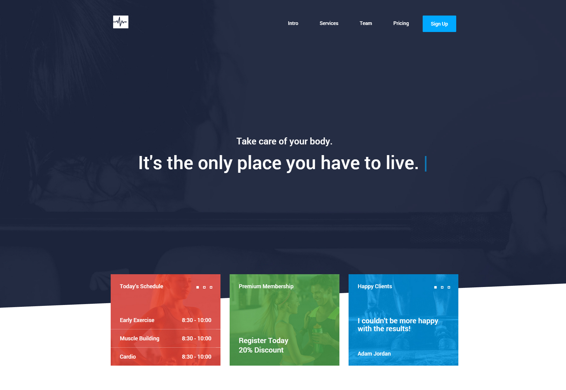 Cardio: One Page Website HTML Template