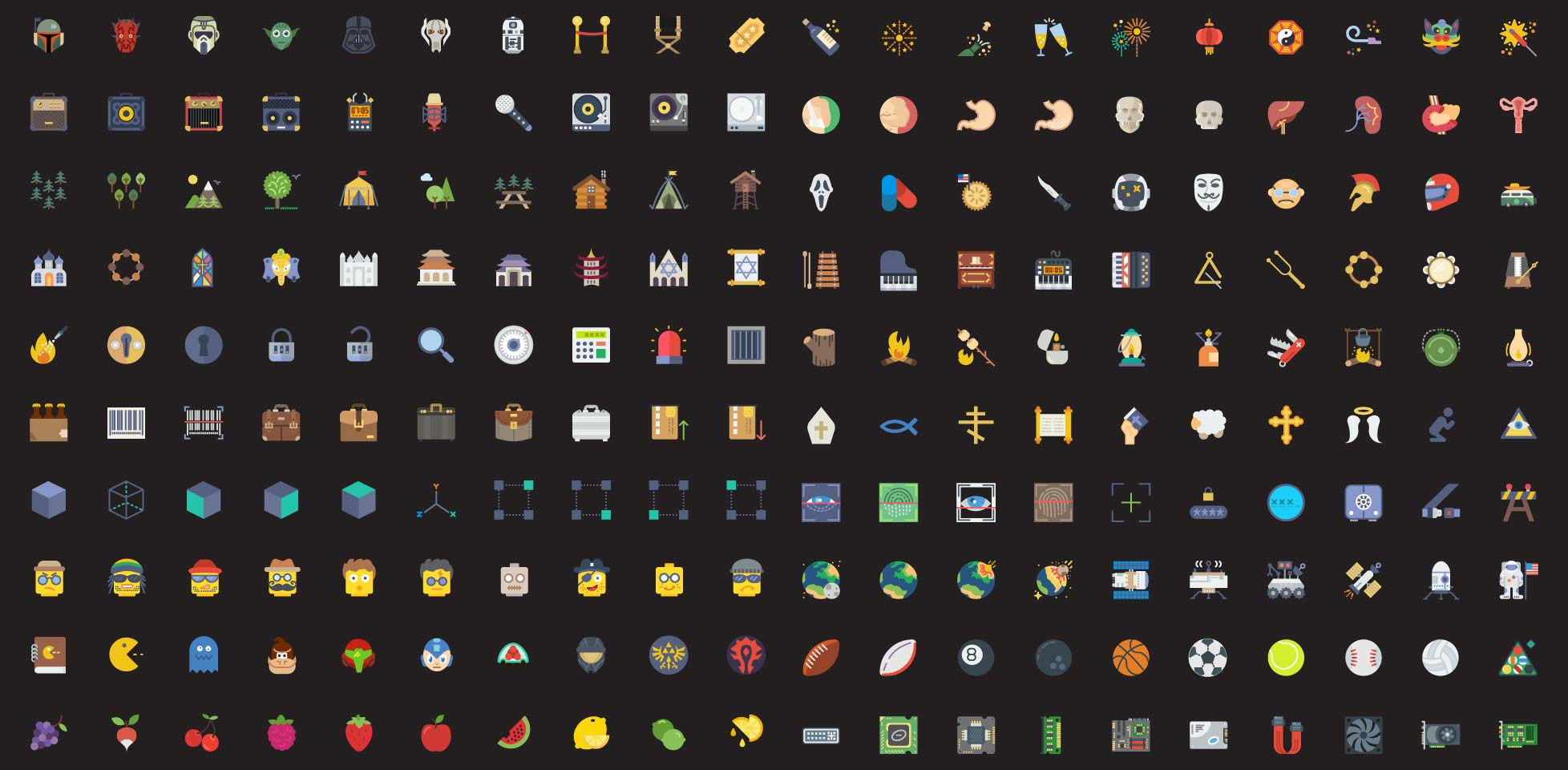 Free download: 200 flat icons from Smashicons