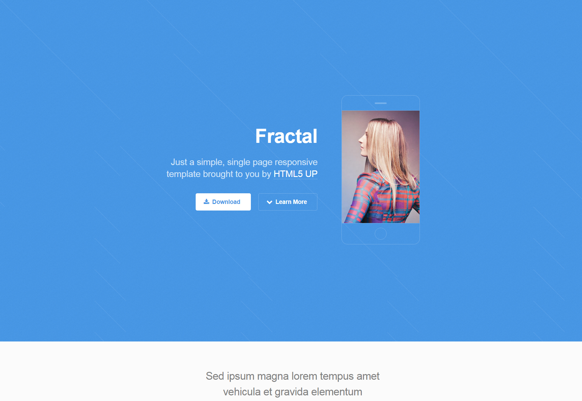 Fractal: Single-page Responsive HTML5 Template