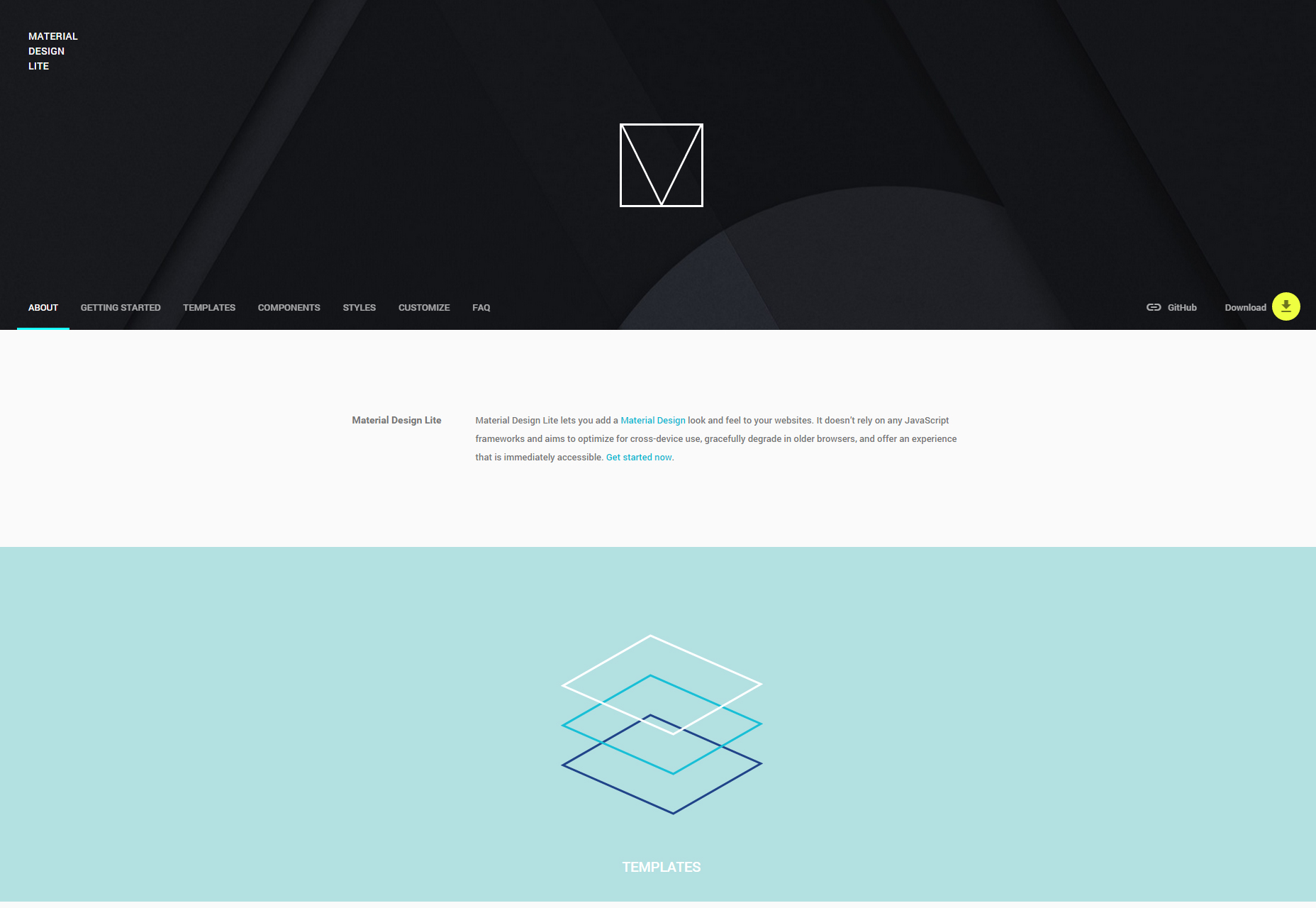 Material Design Lite Web Components Library