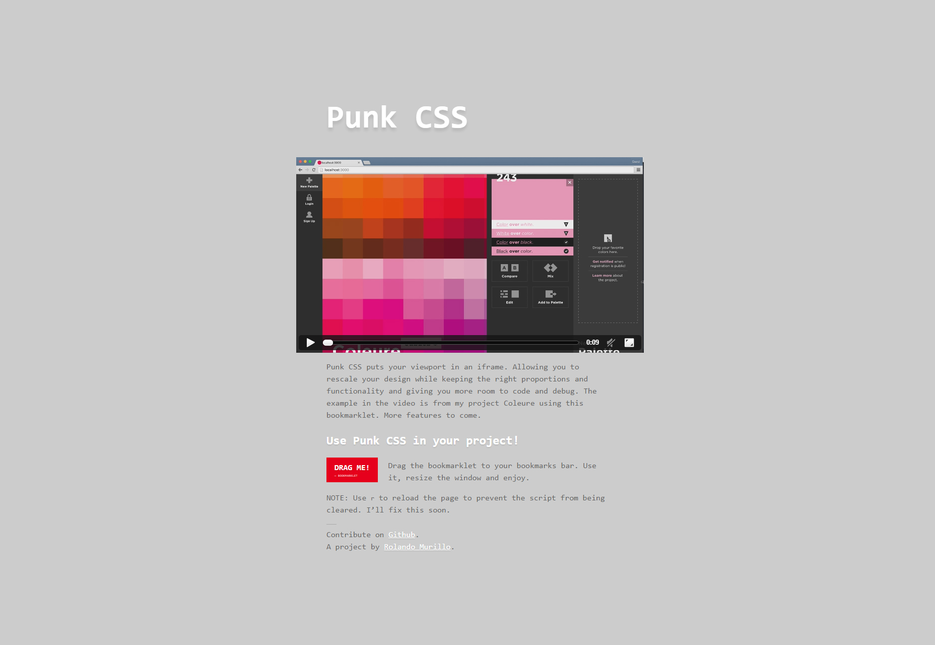 Punk CSS: Scalable Responsive CSS Editor