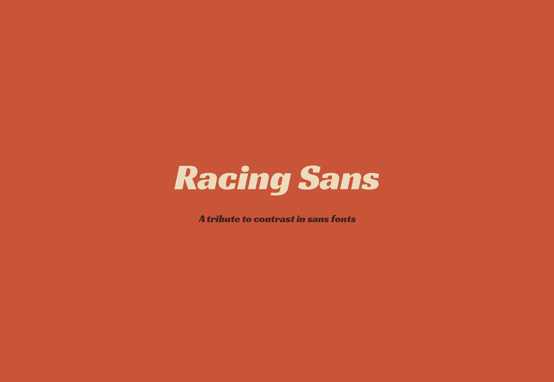 Racing Sans: Speeding Cars-inspired Open Font