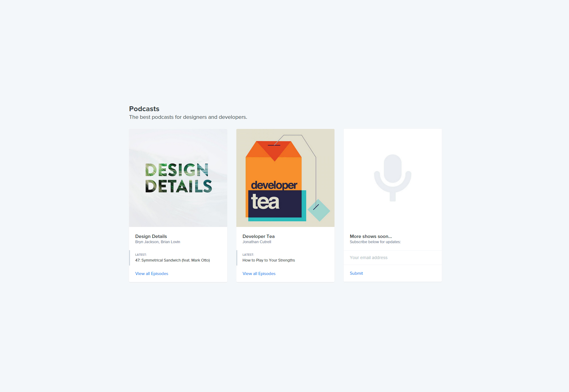 Spec: Learning Podcasts for Designers and Developers.