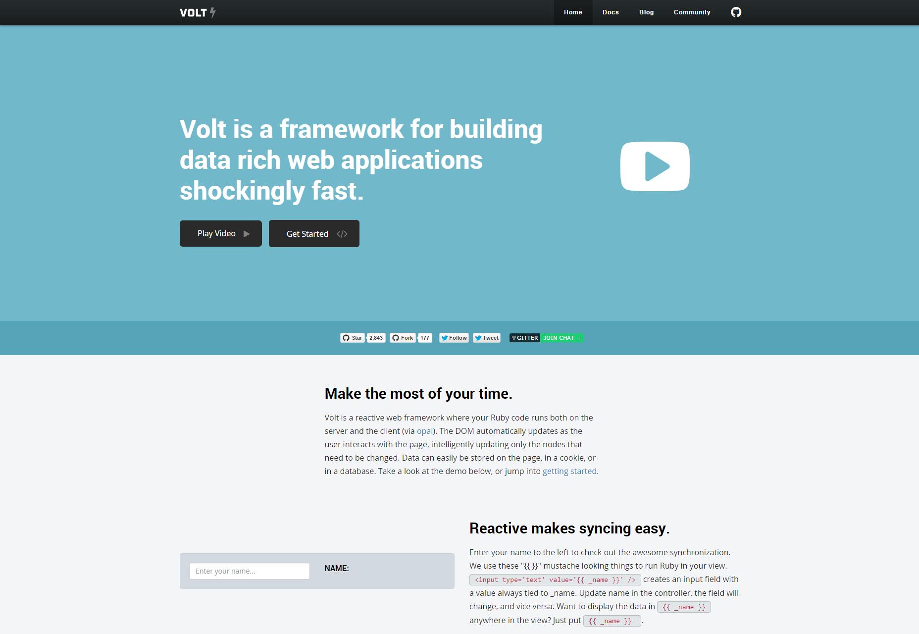 Volt: Reactive Data-rich Web Applications Framework