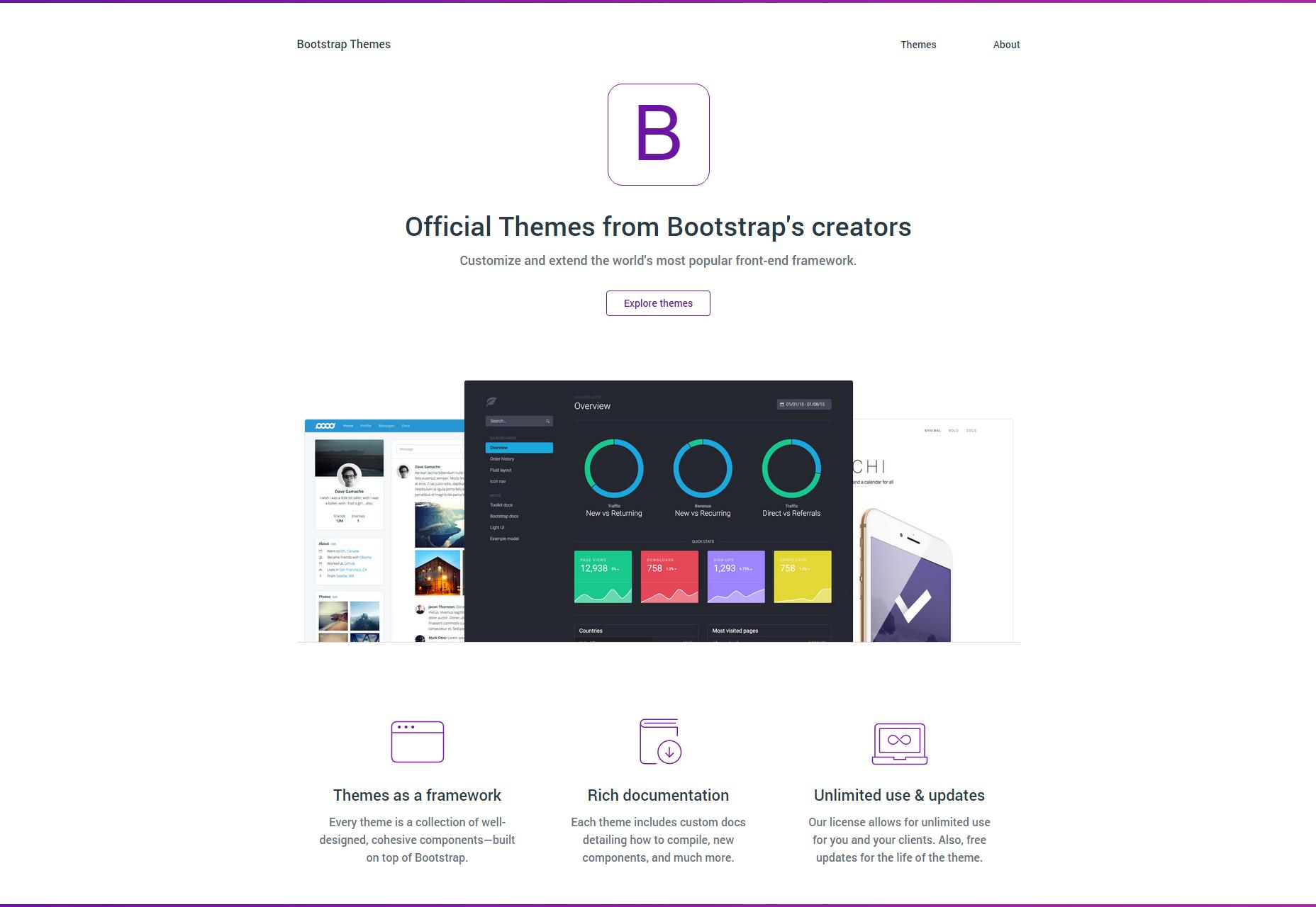 Bootstrap Theme Frameworks Set