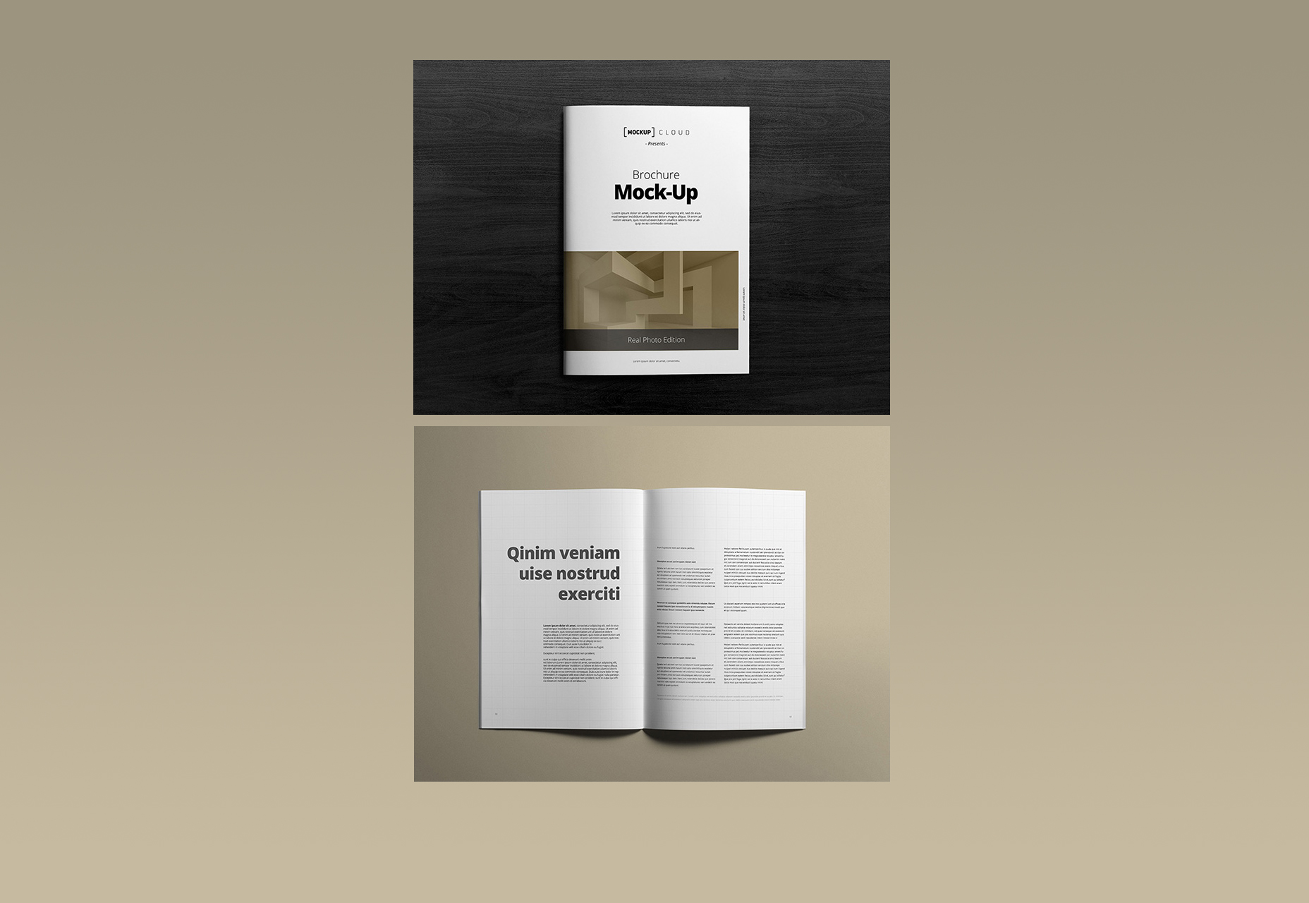 Clean A4 Portrait Brochure Mockups