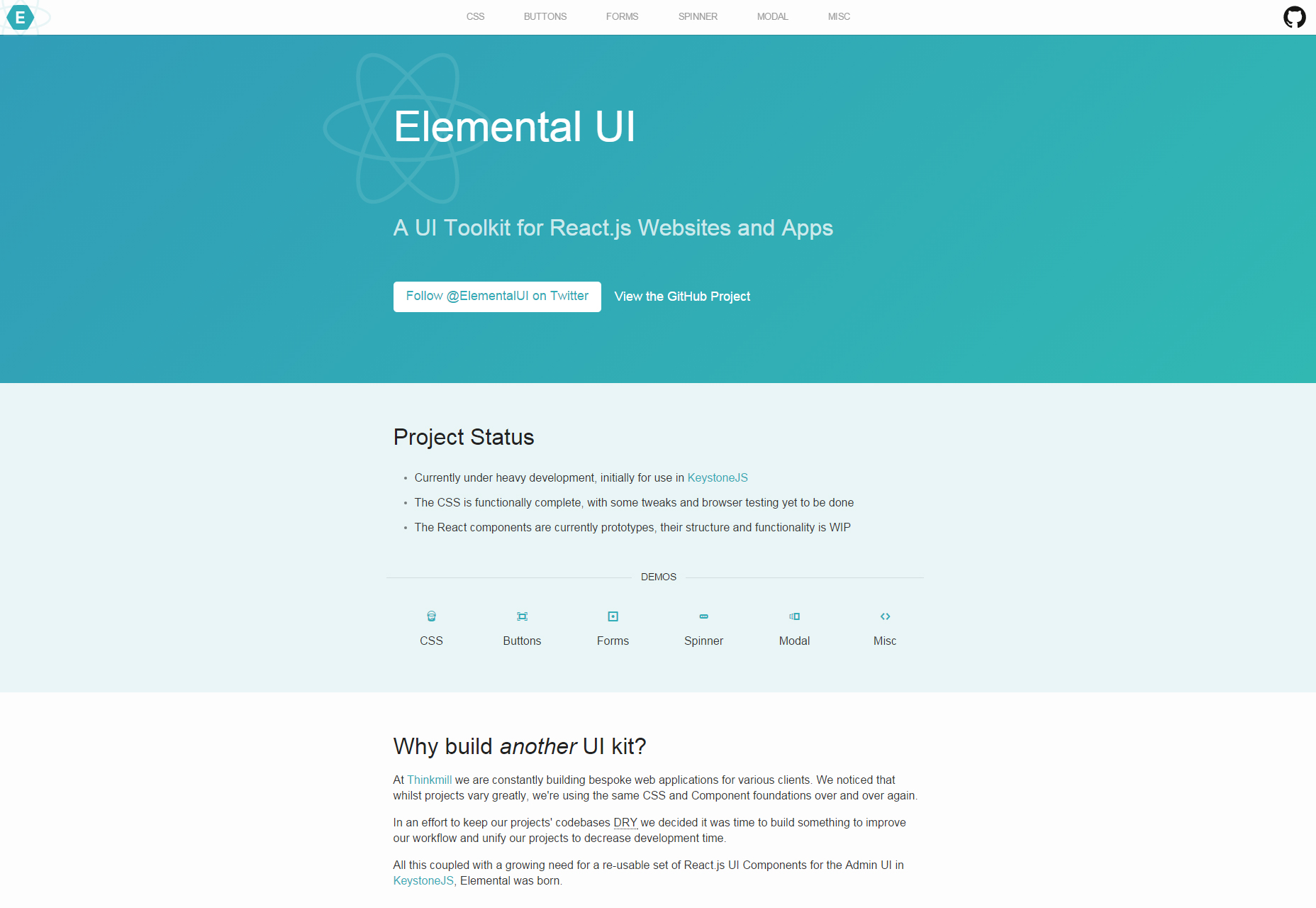 Elemental: ReactJS Focused UI Toolkit