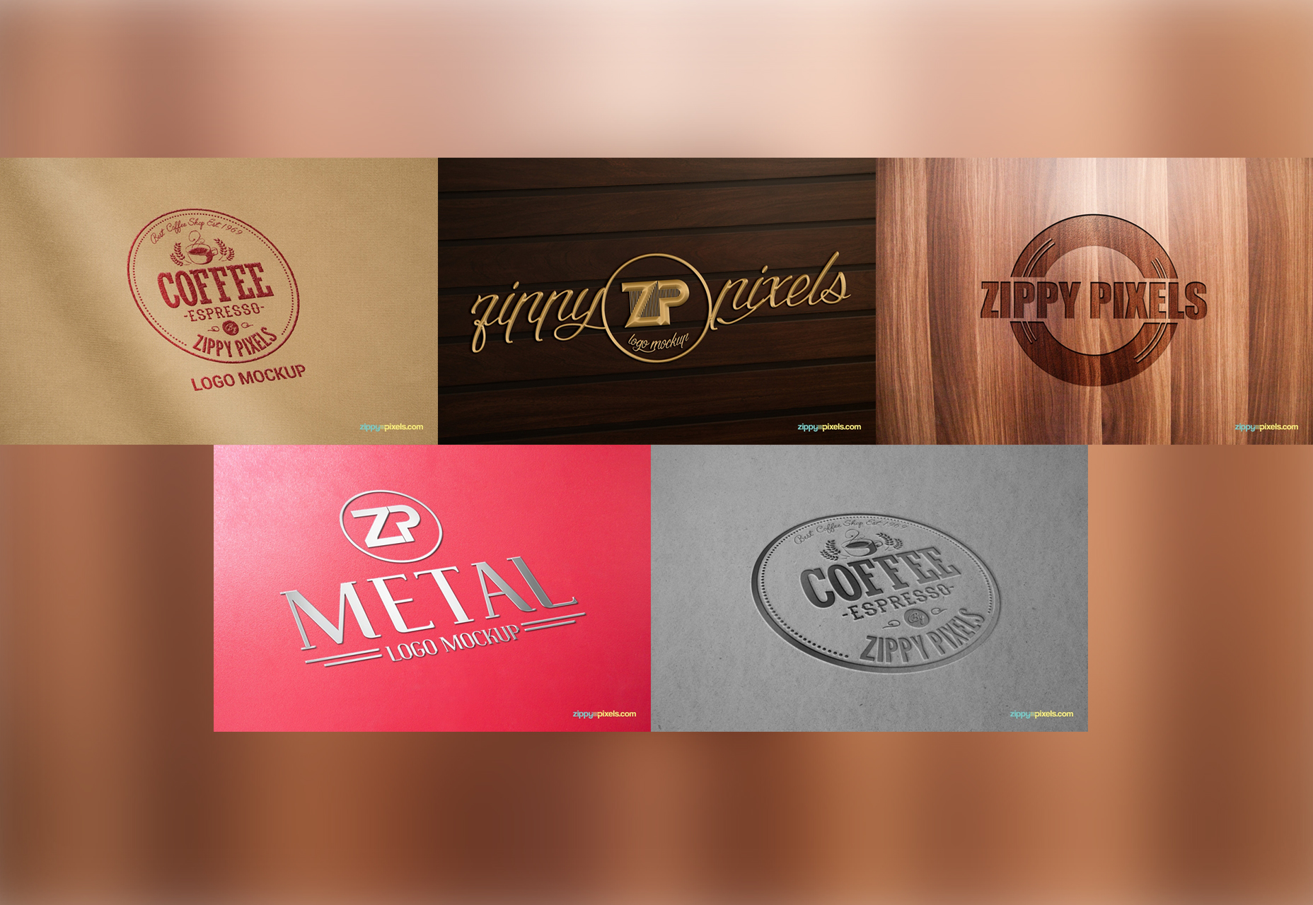Essential Free Logo Mockup Collection