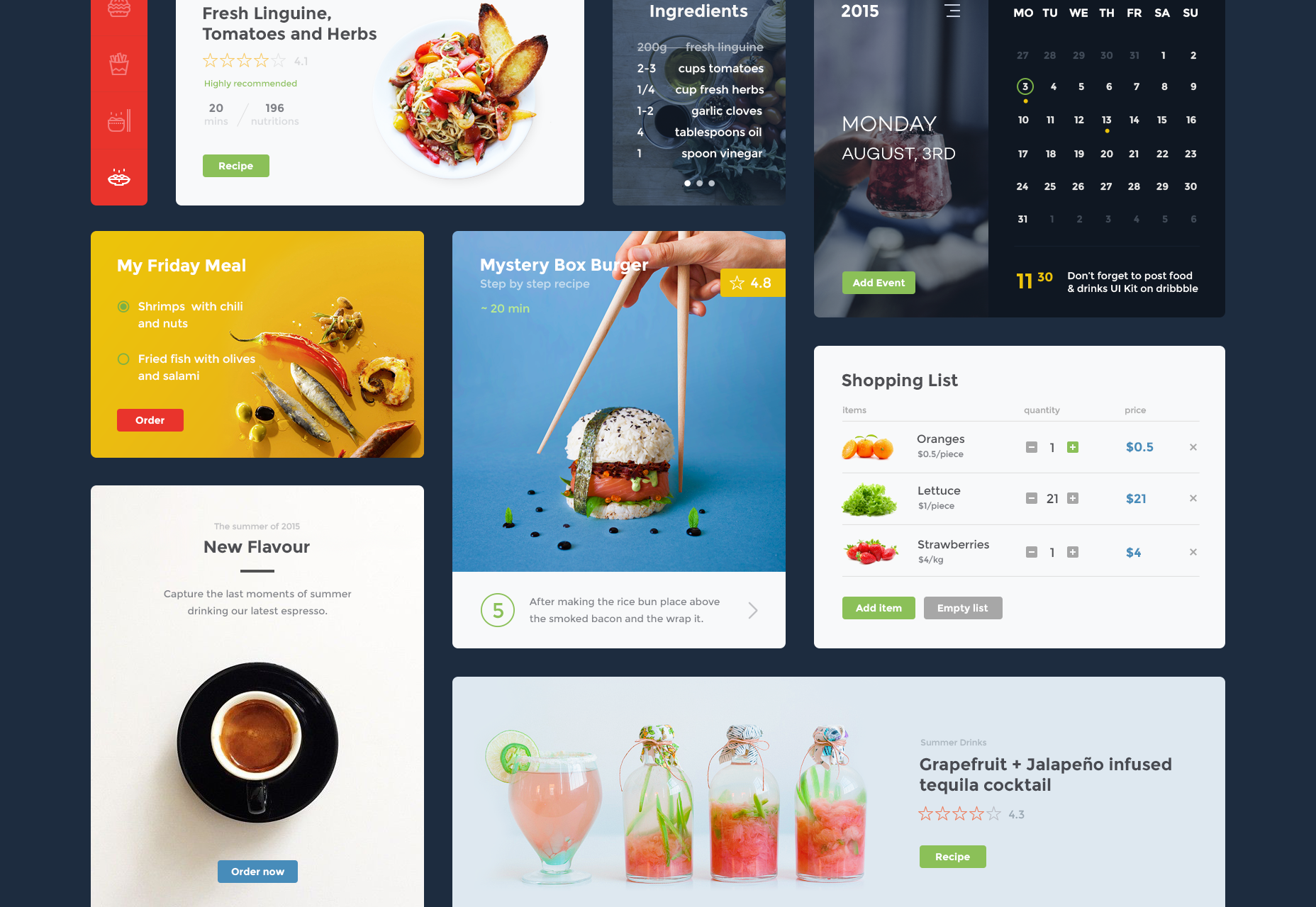 Food & Drink Website UI Kit