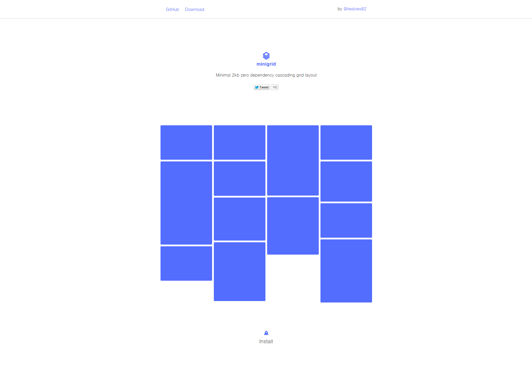 Minigrid: Animated Cascading Grid Layout