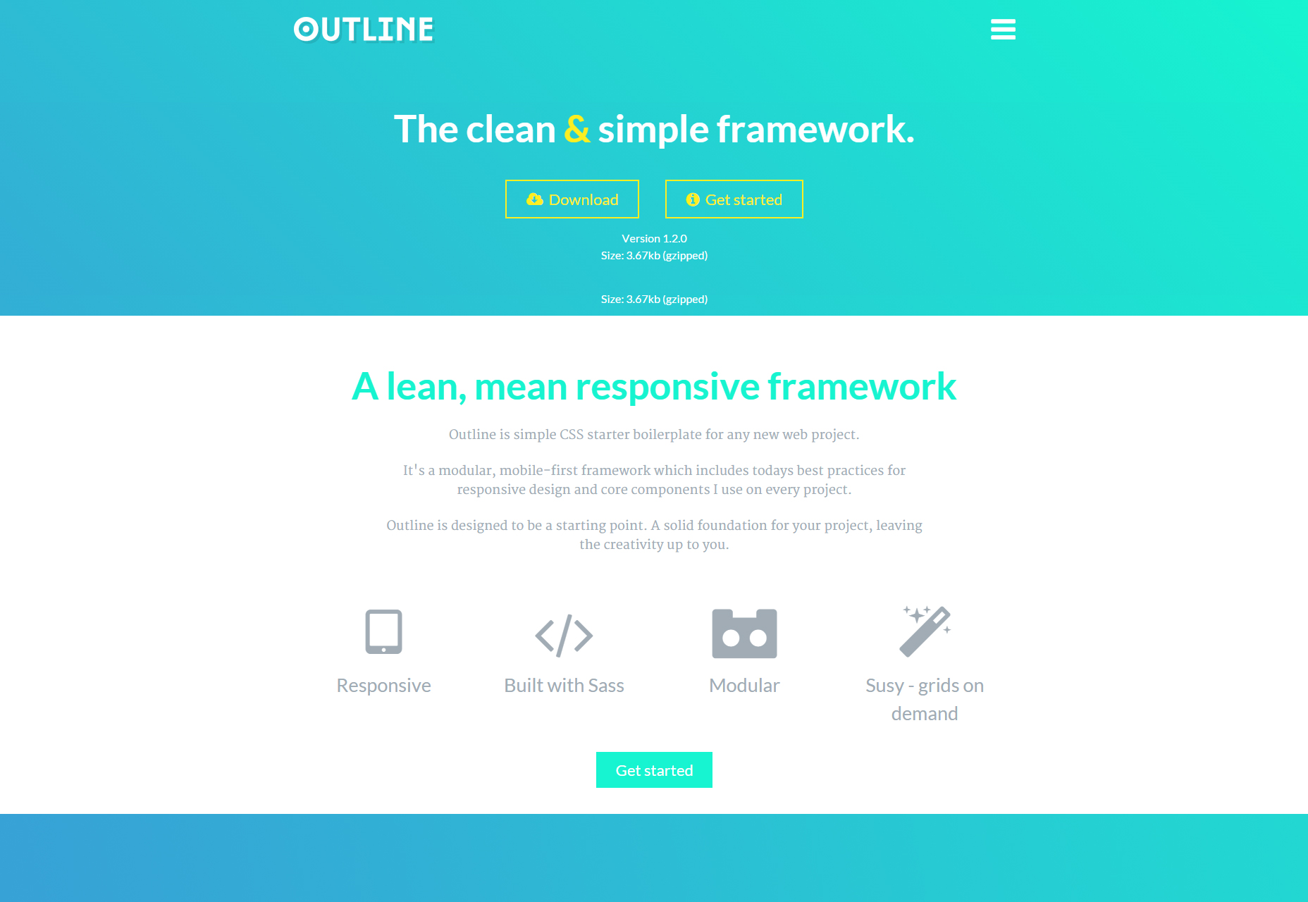 Outline - The Clean & Simple Responsive CSS Framework.