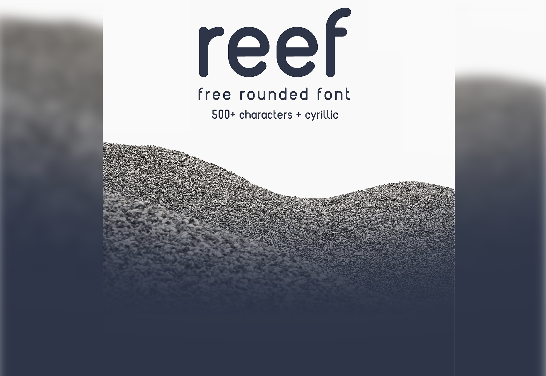 Reef: Round Edged Line Typeface