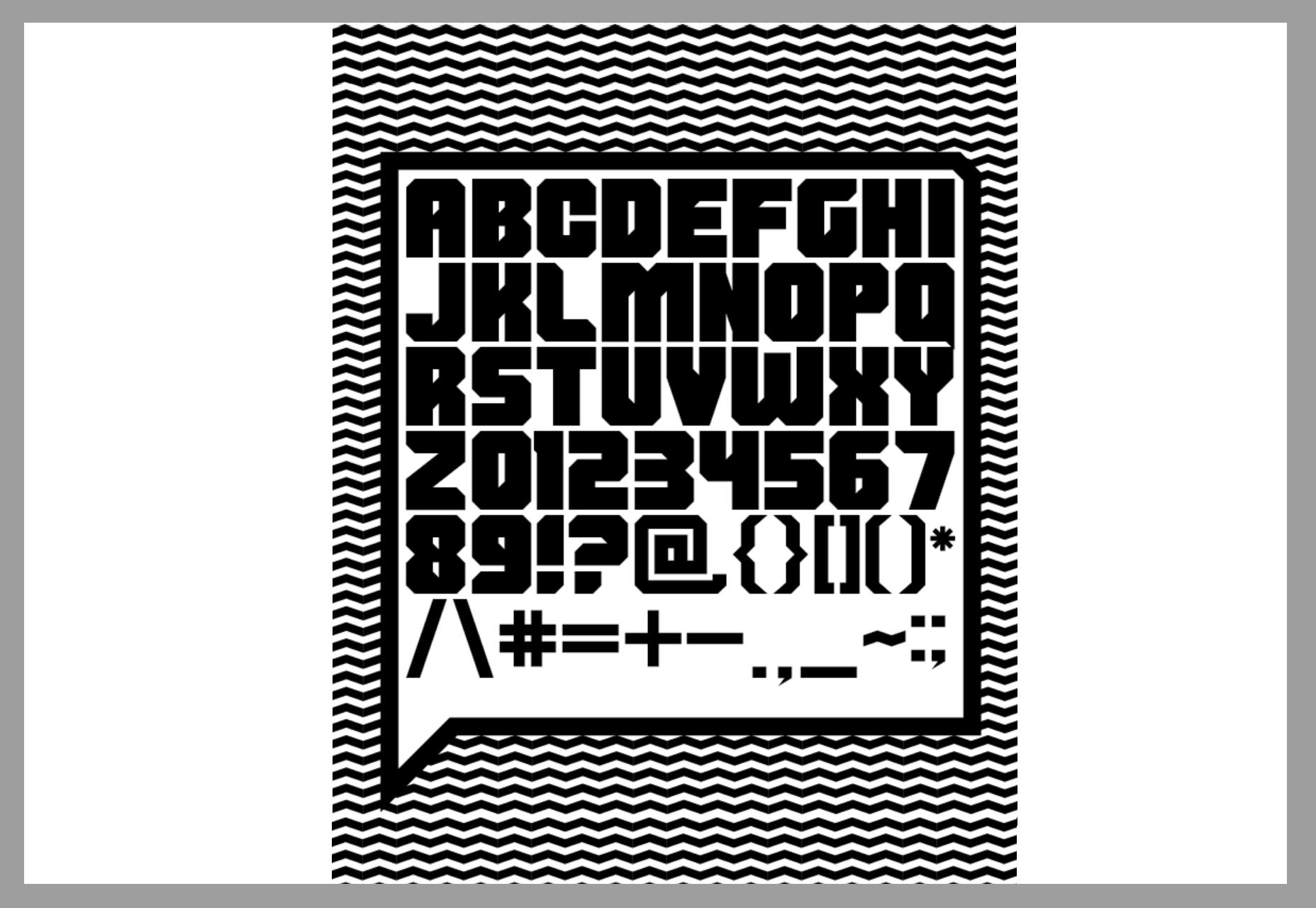 Shumi: Bold Straight-edged Font