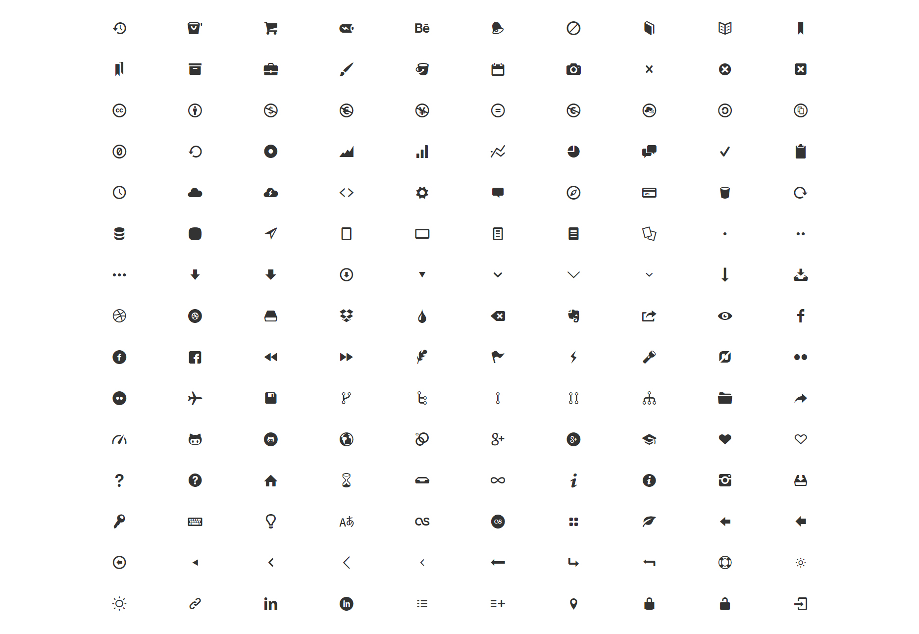 We Love Icon Fonts: Google Web Fonts-like Collection