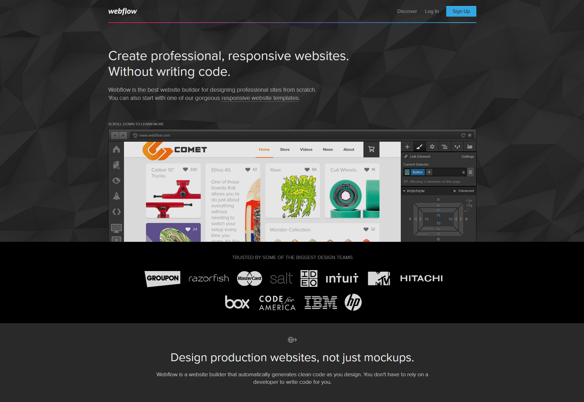 Webflow: Design-focused Website Builder