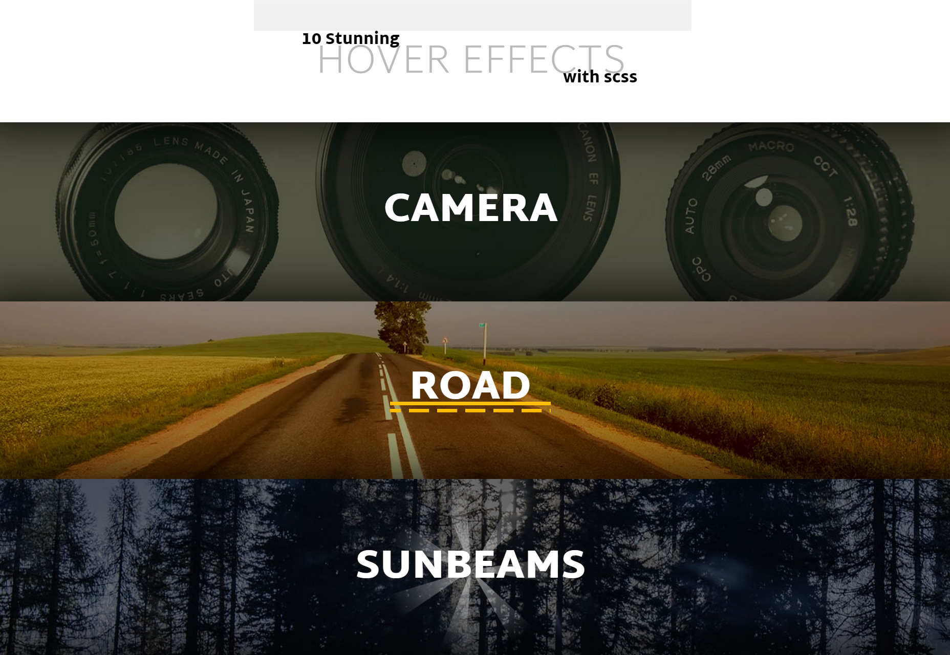 10 Stunning Hover SCSS Effects