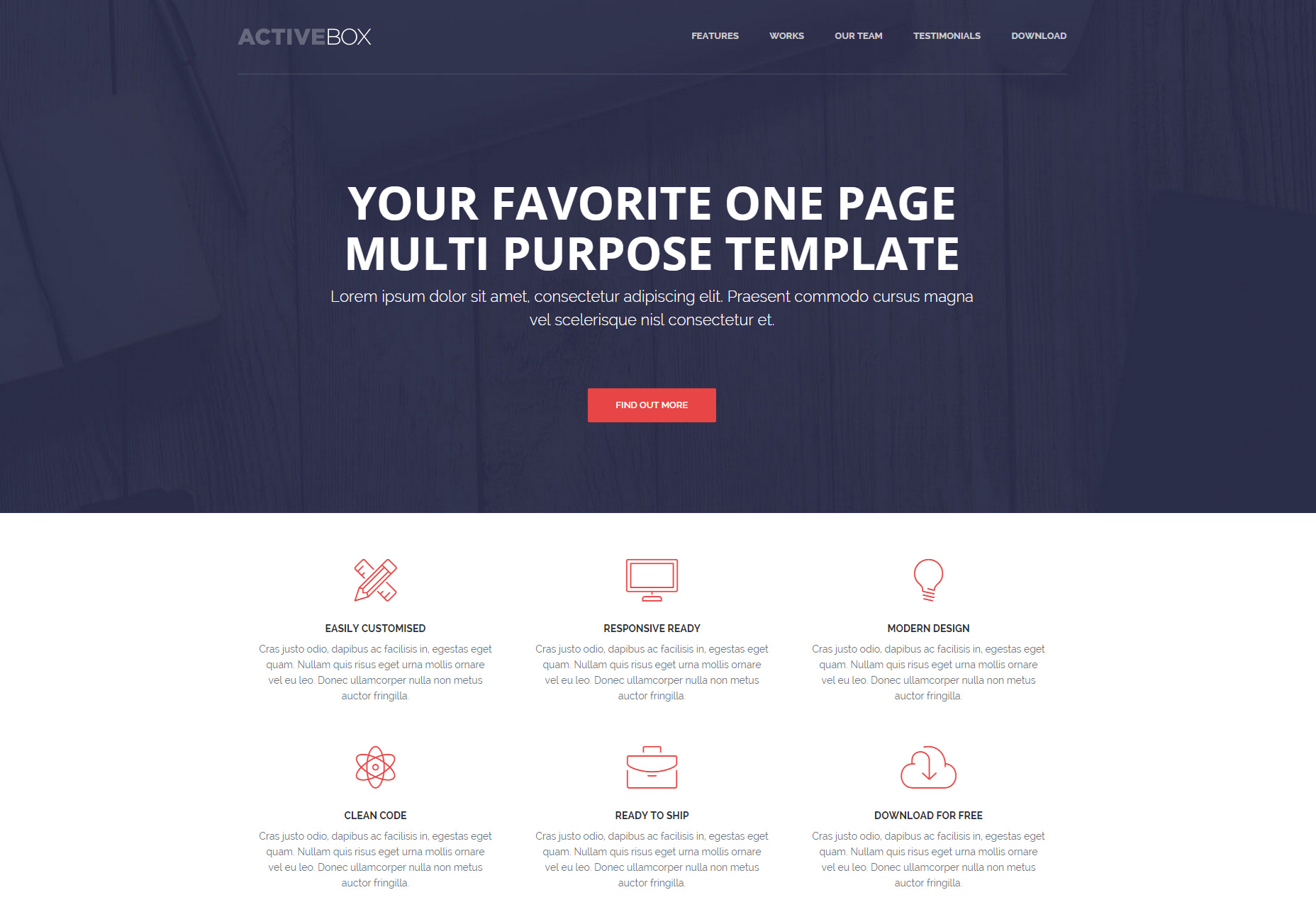 ​ActiveBox: One-page Multipurpose HTML Template