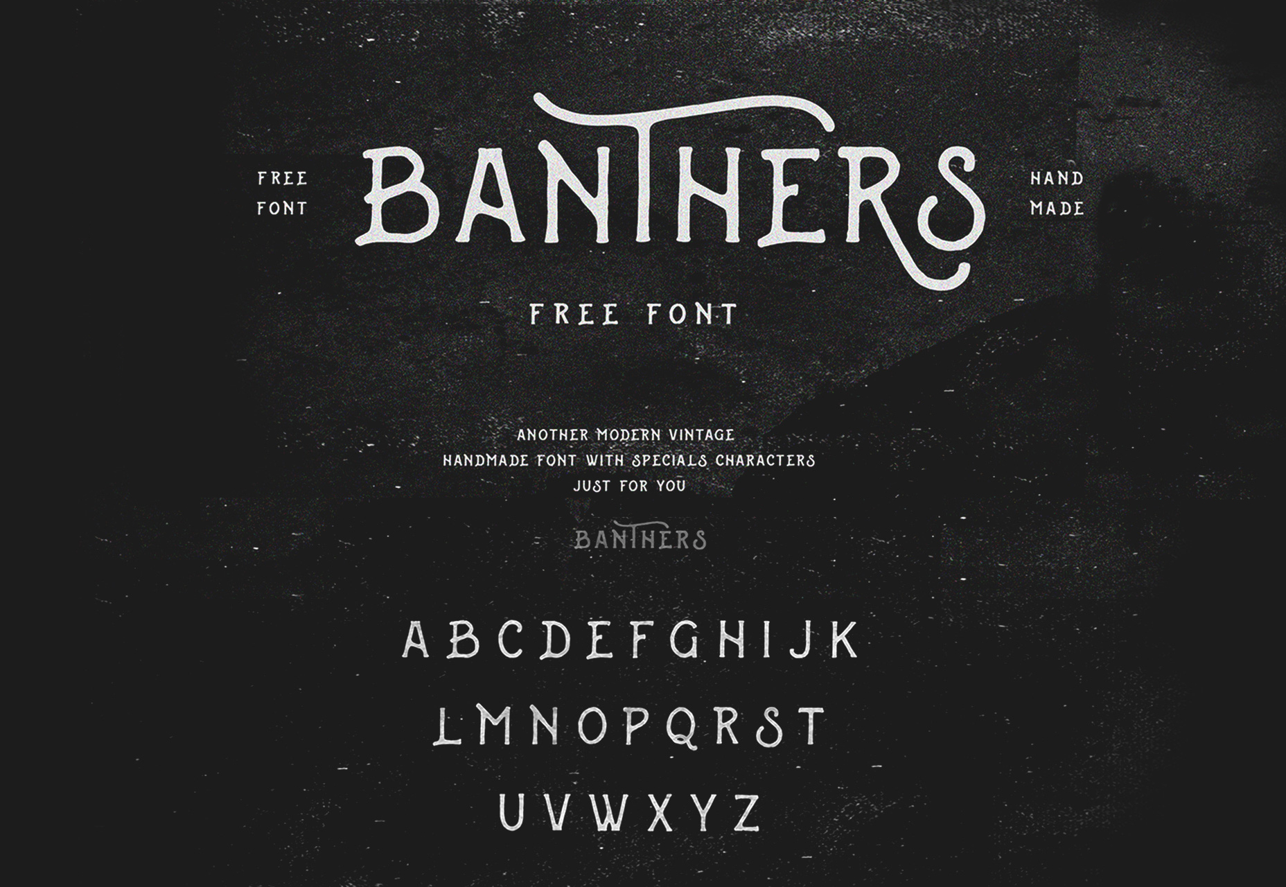 Banthers: A Chalk Handwritten Typeface