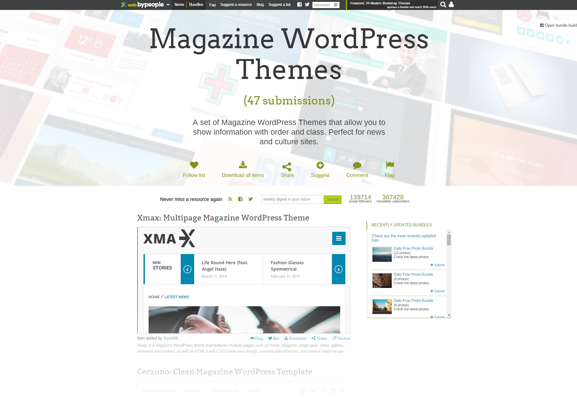 Curated Magazine WordPress Themes Bundle